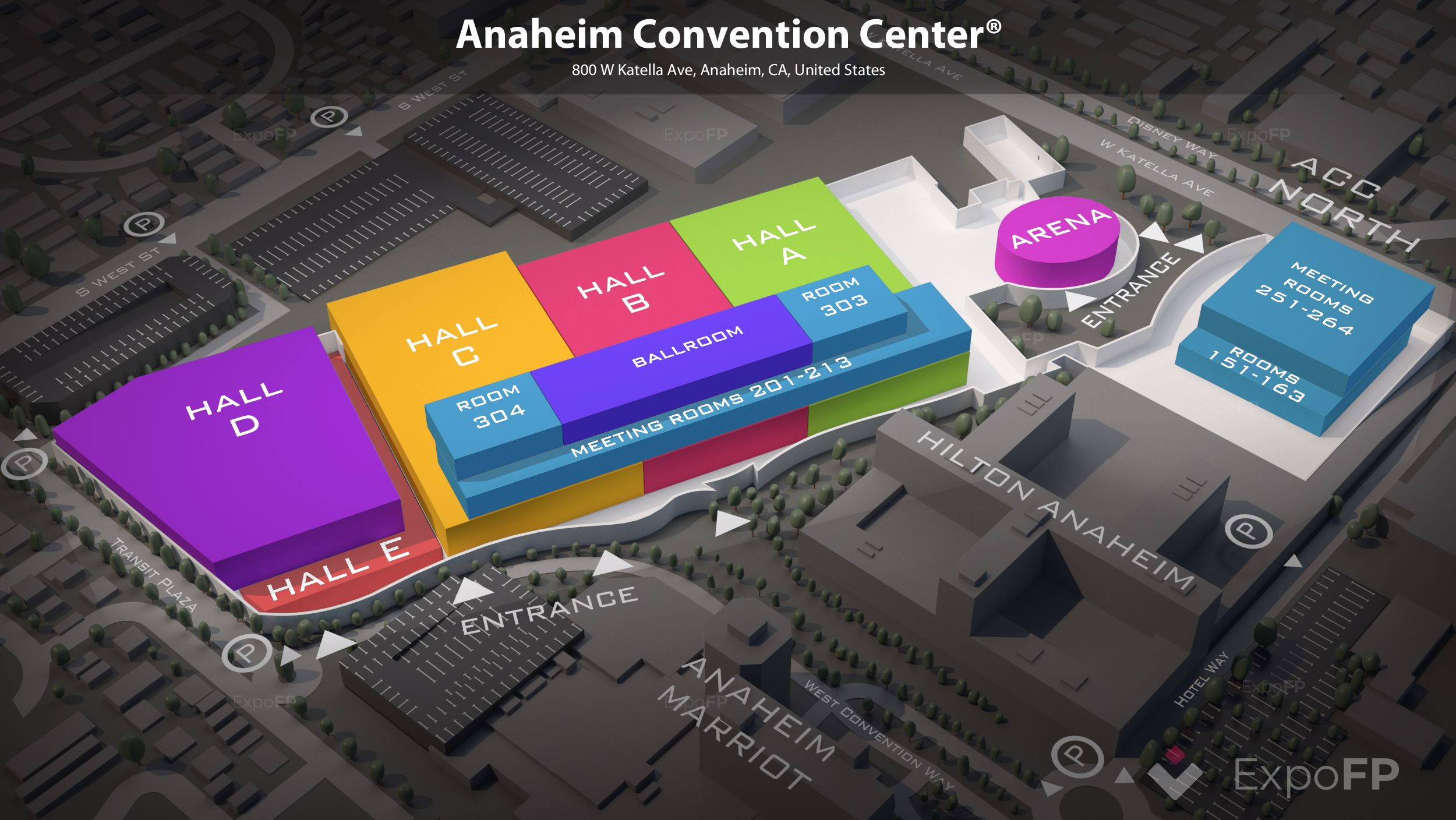 Anaheim Convention Center floor plan