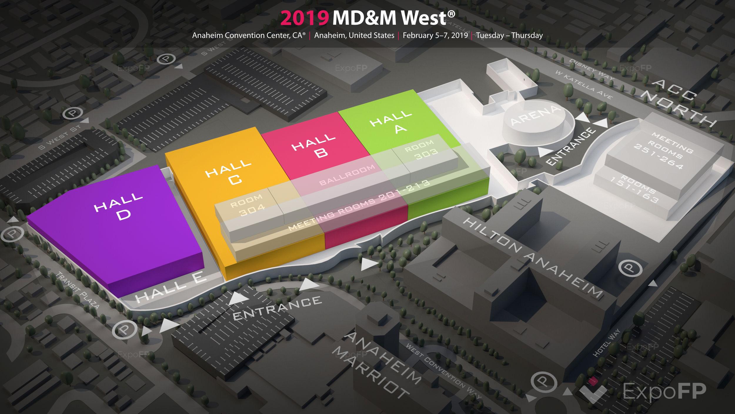 MD&M West 2019 in Anaheim Convention Center