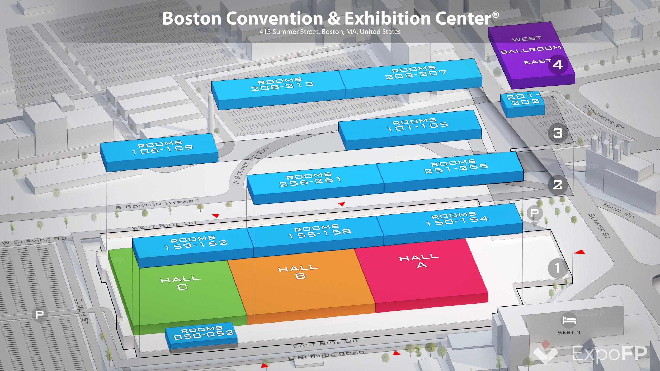 Boston Convention Exhibition Center Floor Plan