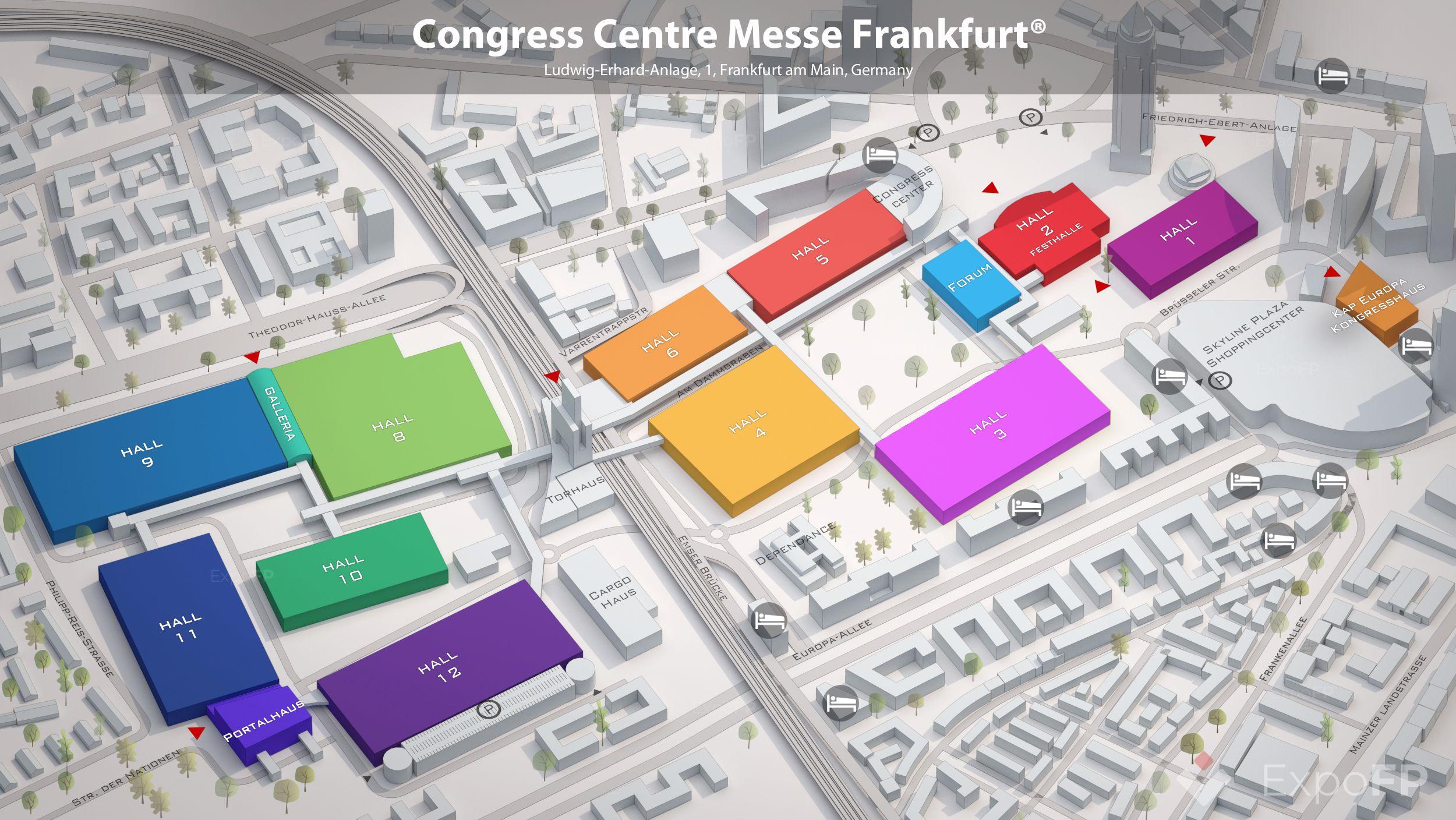 Congress Centre Messe Frankfurt Floor Plan
