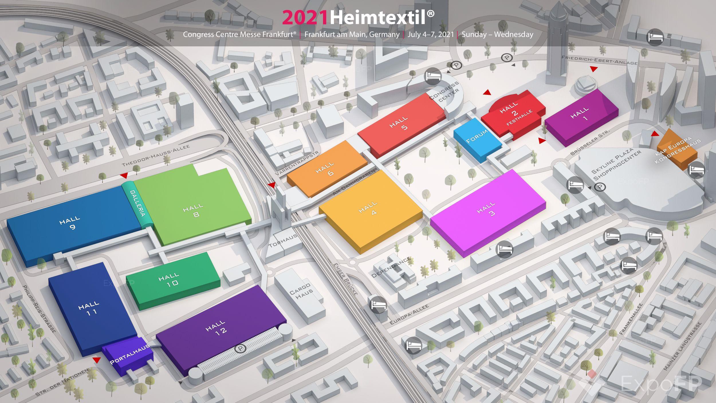 Heimtextil 2021 3D план этажа