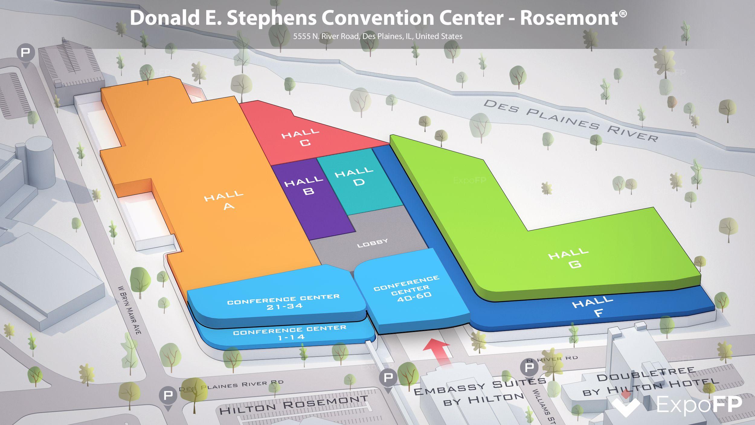 Chicago Convention Calendar 2022.Donald E Stephens Convention Center Rosemont Floor Plan