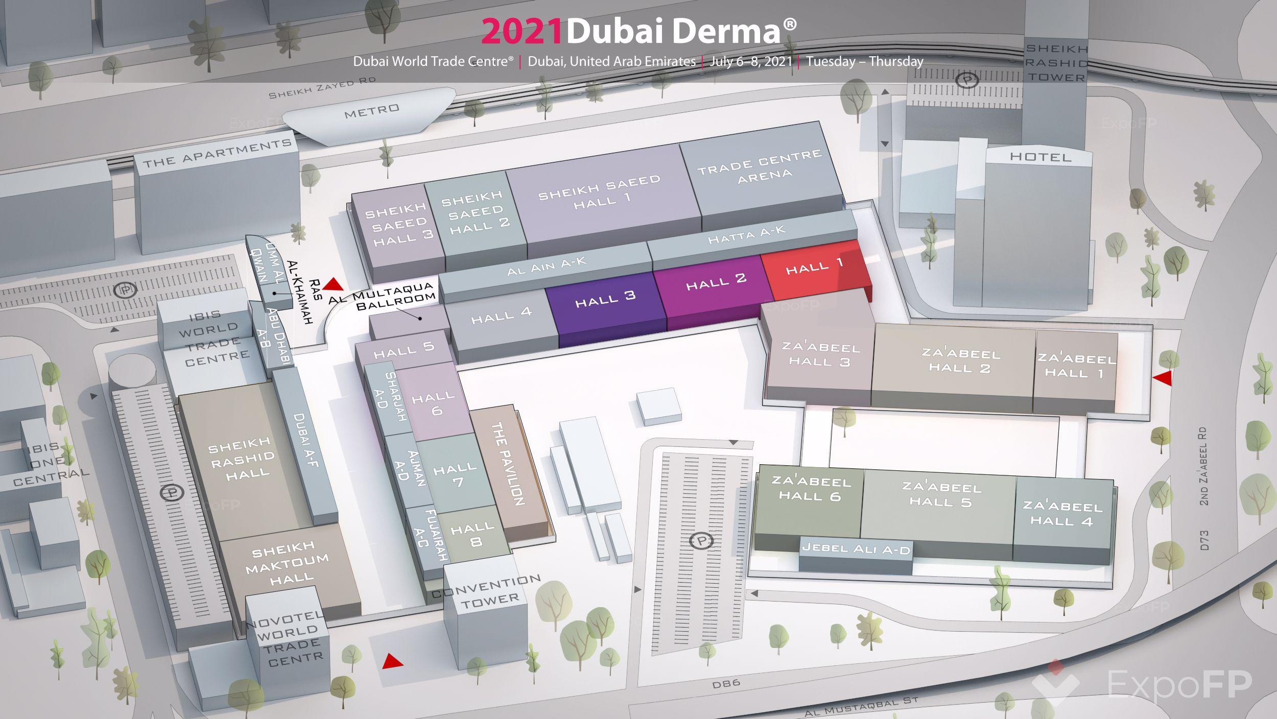 Dubai Derma 2021 In Dubai World Trade Centre
