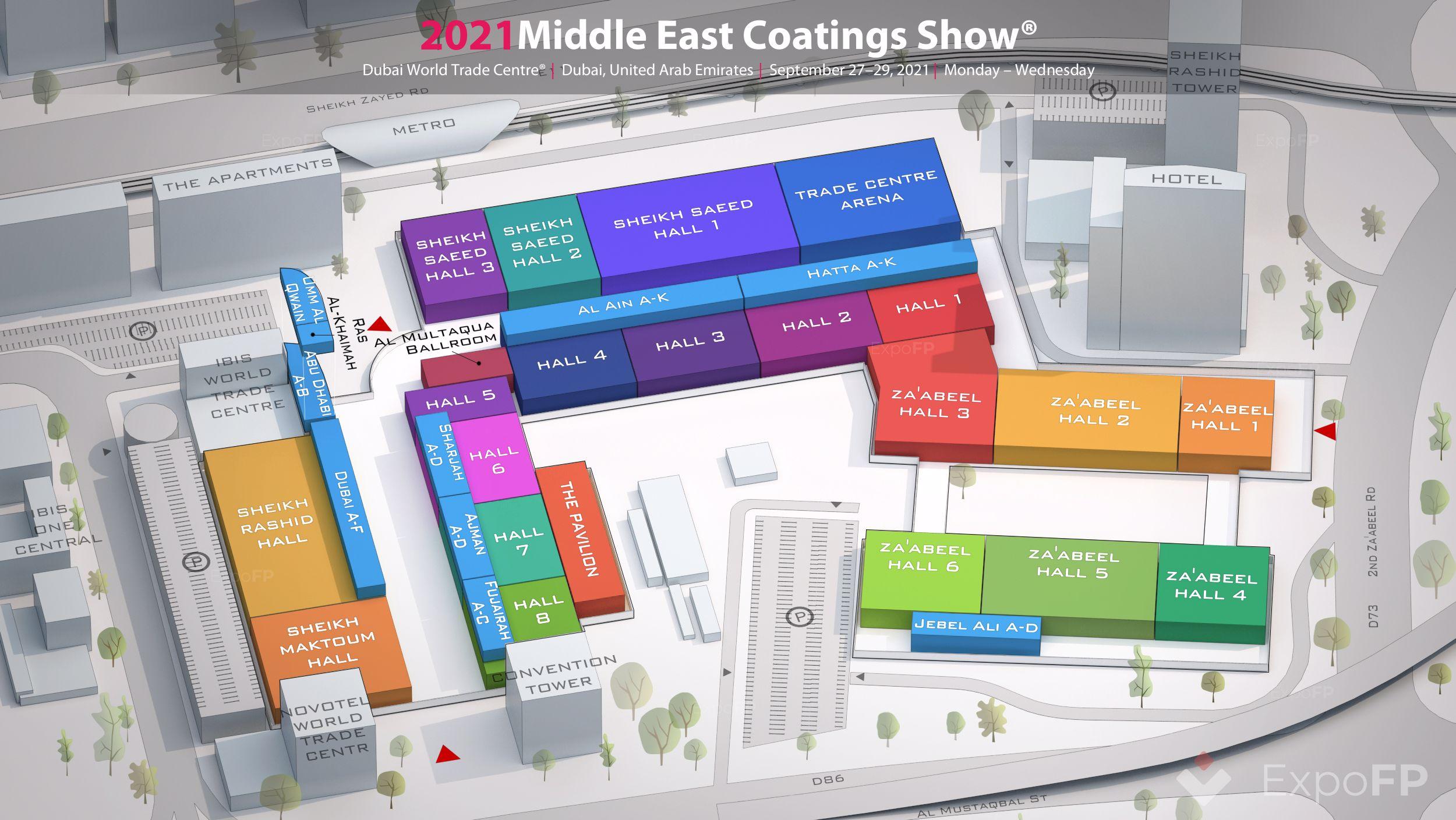 Middle East Coatings Show 2021 3D floor plan