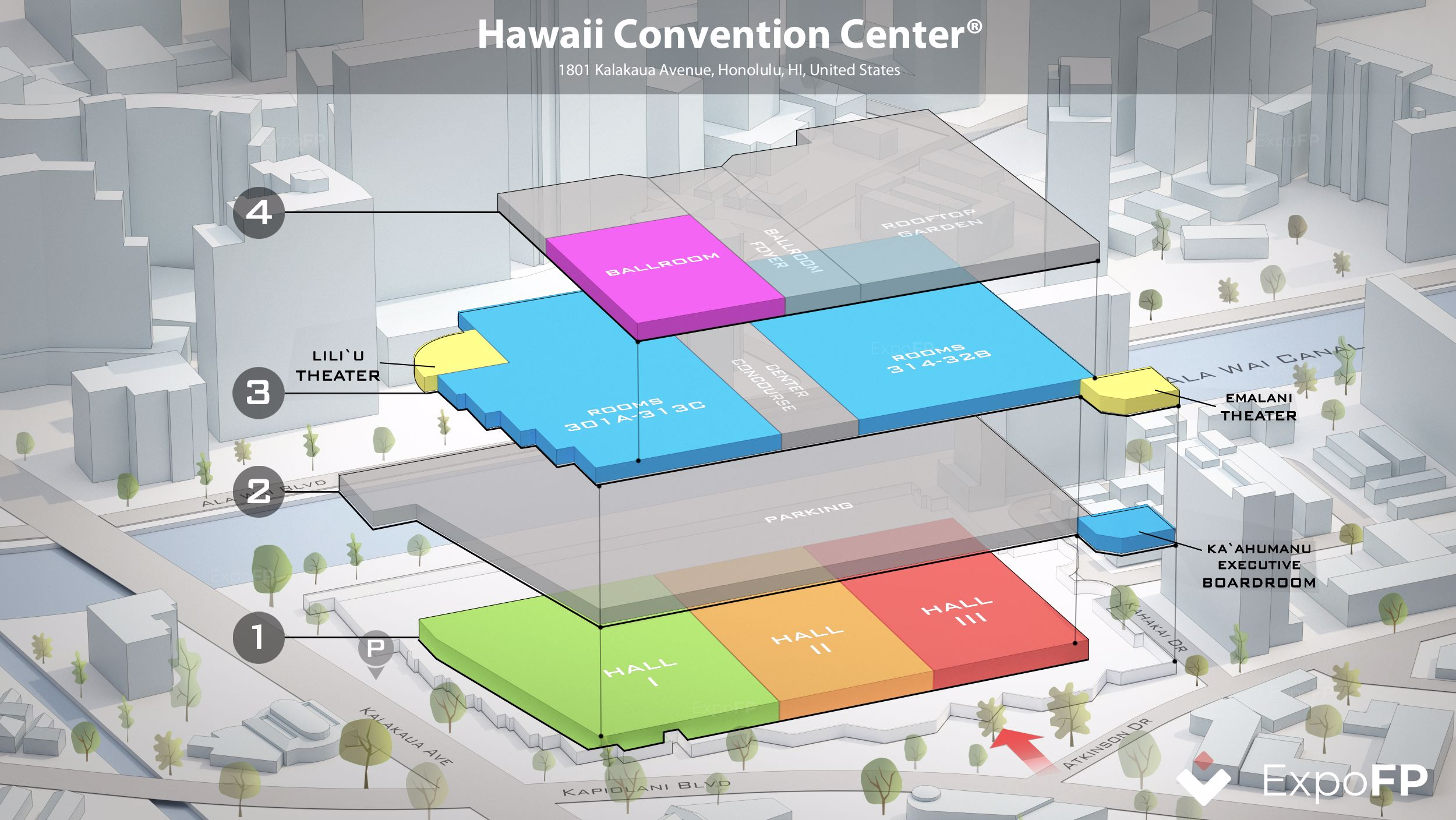 Hawaii Convention Center Floor Plan