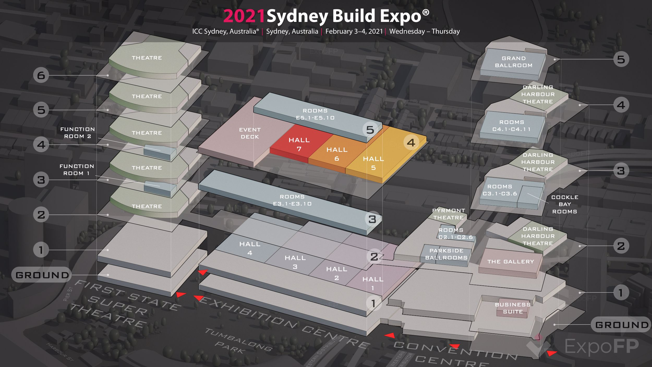 Sydney Build Expo 2020 3D floor plan
