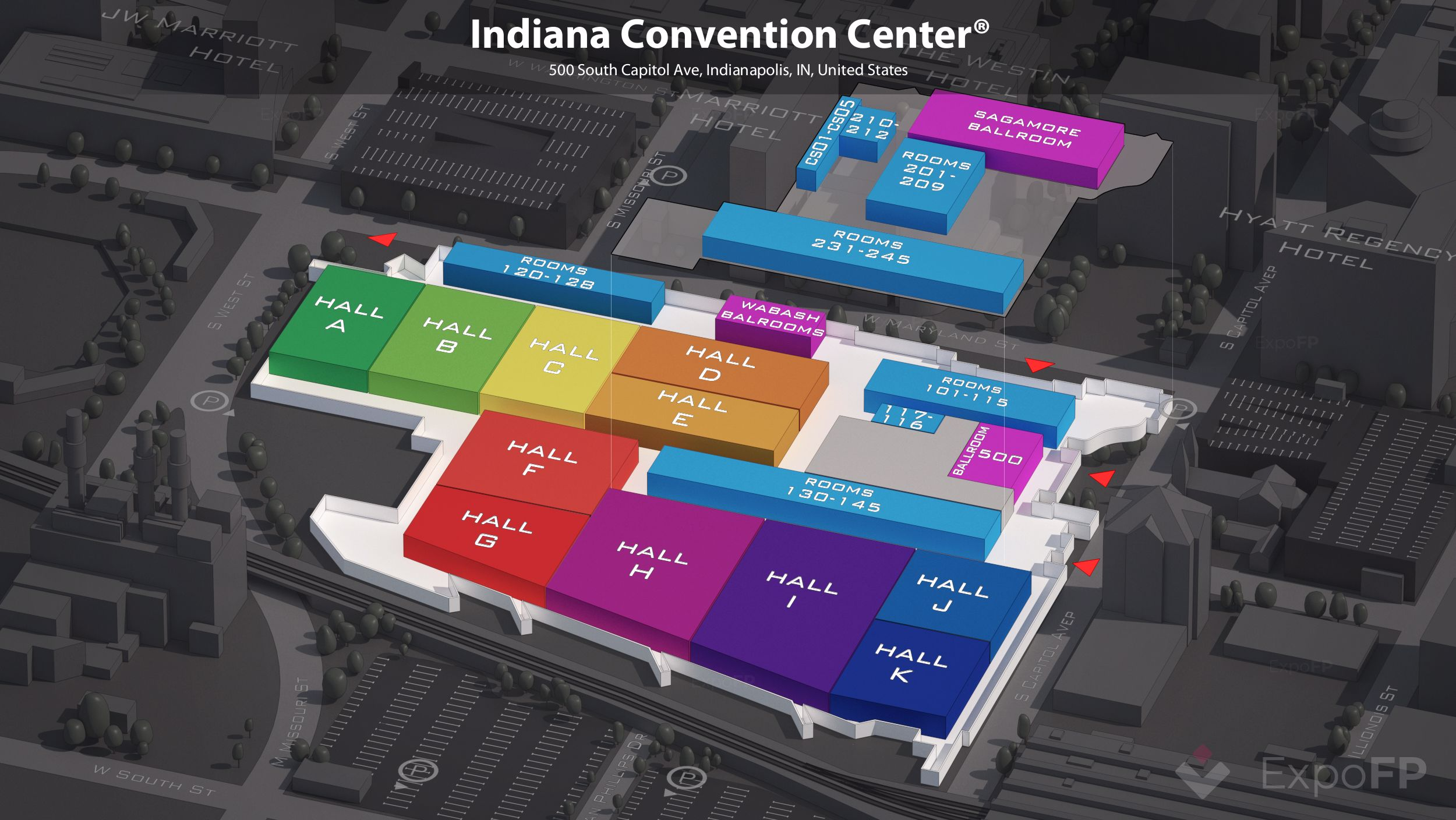 Indianapolis Events March 2020.Indiana Convention Center Floor Plan
