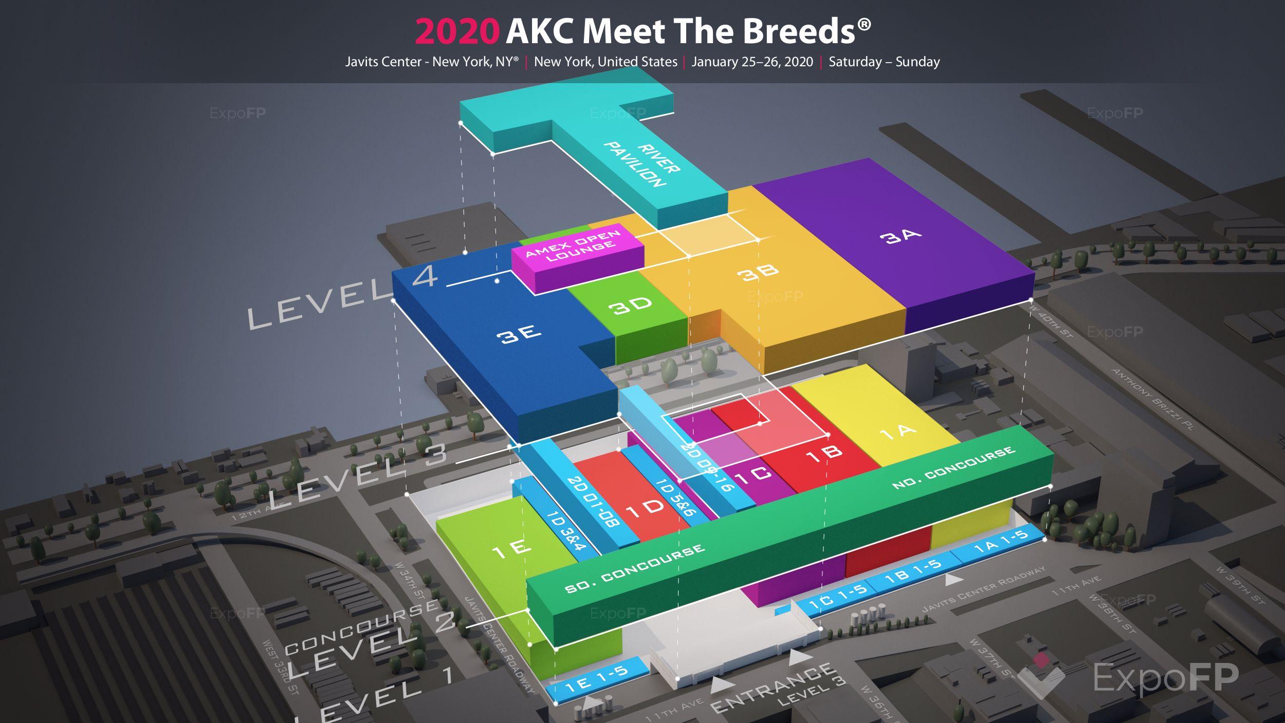 AKC Meet The Breeds 2020 3D floor plan