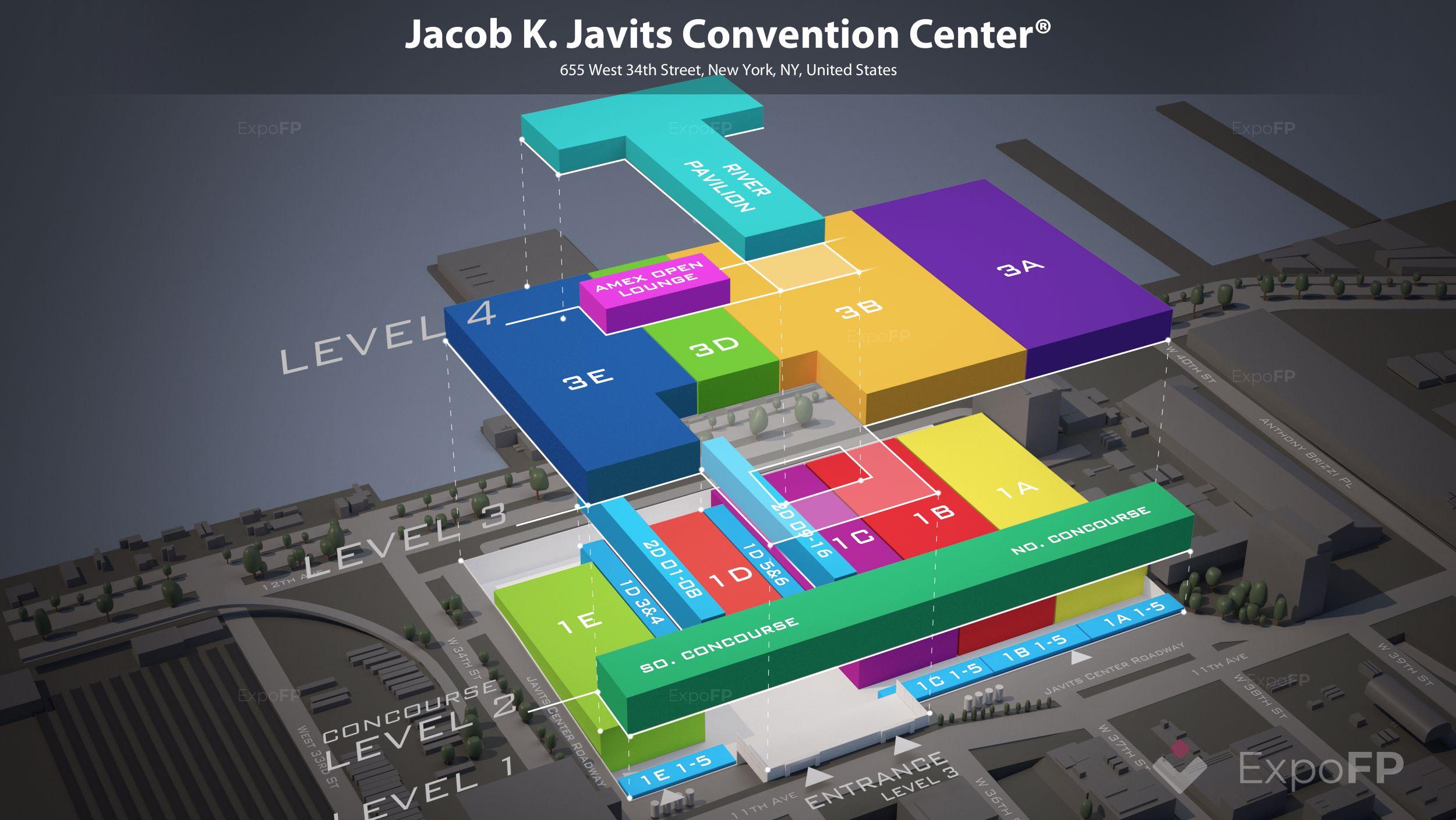 Javits Center Calendar 2019 Jacob K. Javits Convention Center floor plan