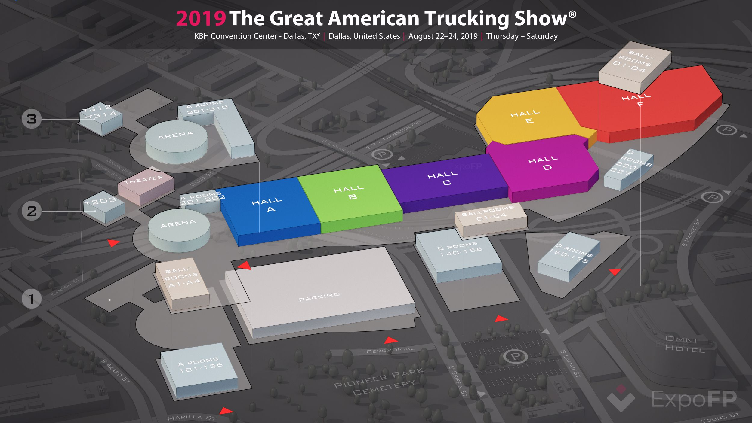 The Great American Trucking Show 2019 in KBH Convention
