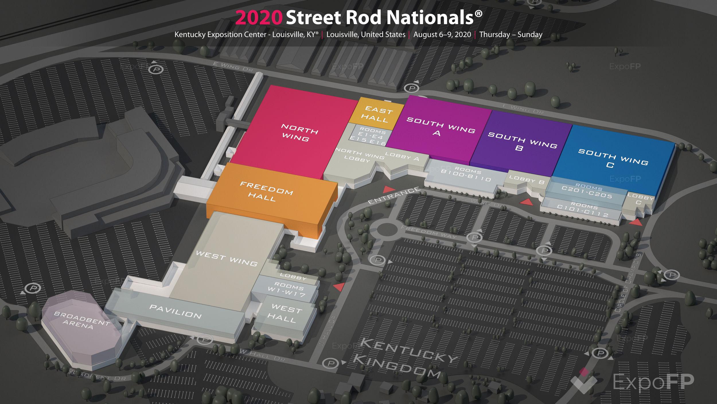 Street Rod Nationals 2020 In Kentucky Exposition Center