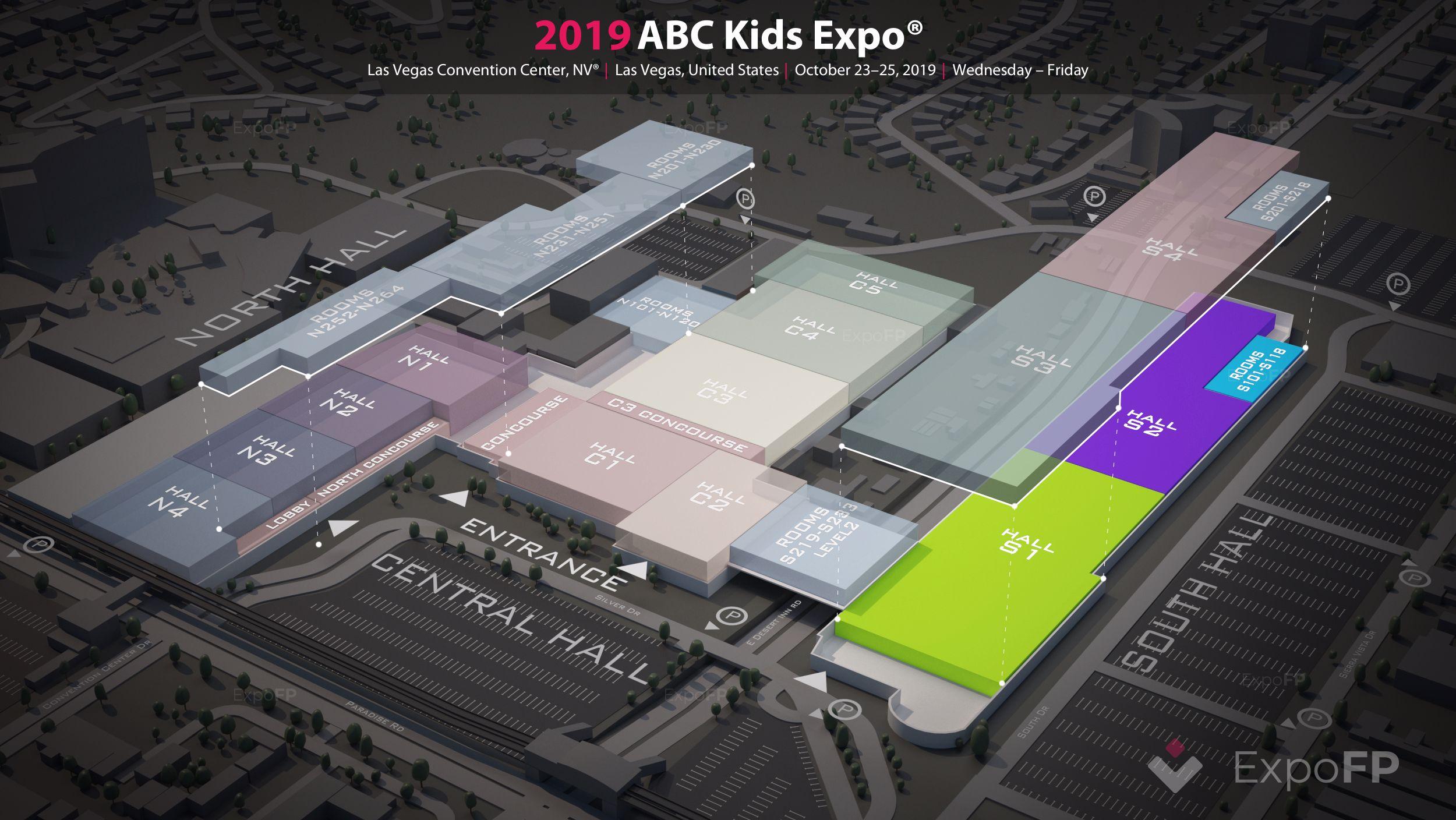 Abc kids expo 2020 las vegas | las vegas convention center floorplan | abc kids expo 2020