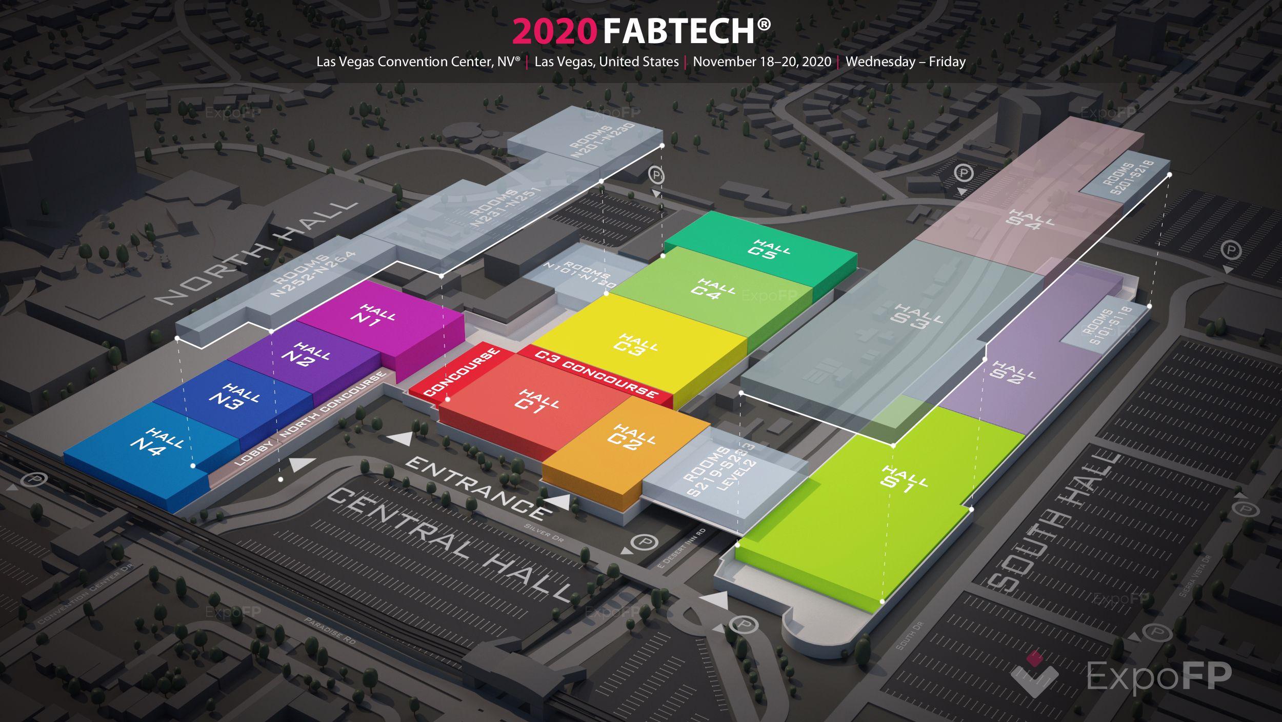 Fabtech 2020 las vegas | las vegas convention center floorplan | fabtech 2020