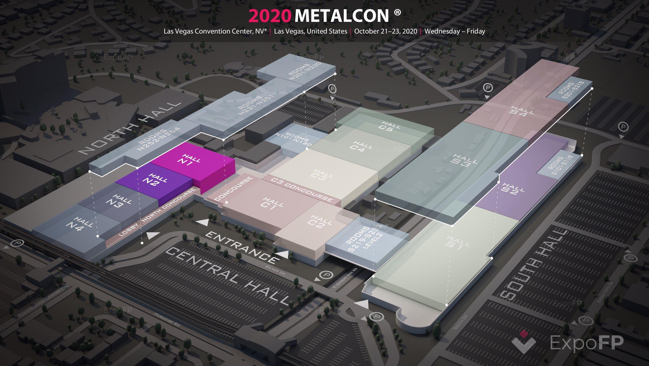 Metalcon 2020 3d floor plan