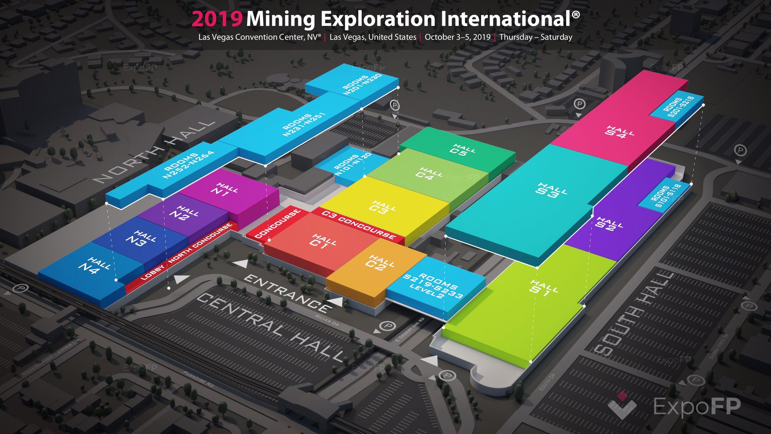 Las Vegas Convention Center Map, Las Vegas Convention Center Mining Exploration International 2019 3d Floor Plan, Las Vegas Convention Center Map