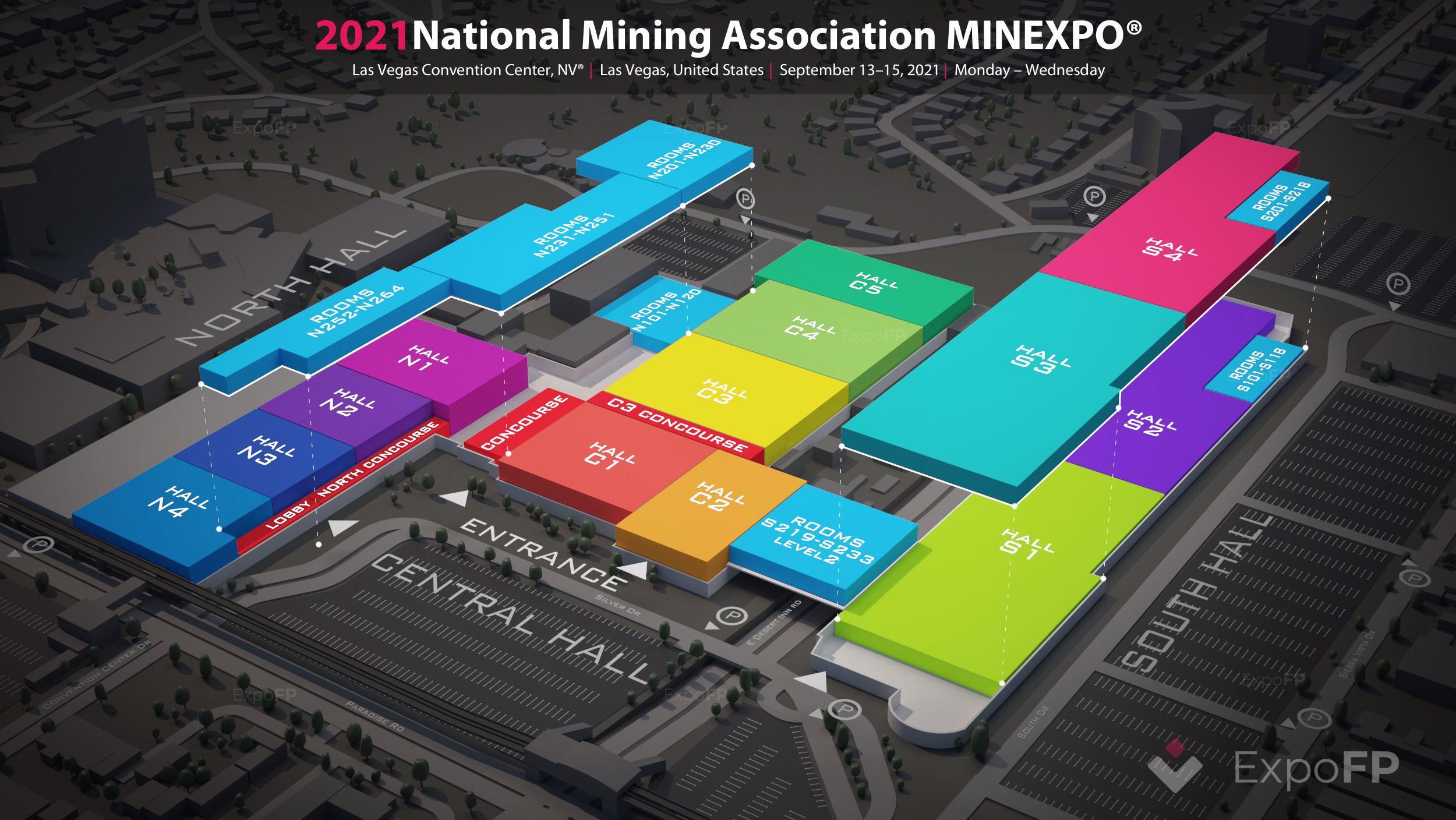 National Mining Association MINEXPO 2021 3D floor plan