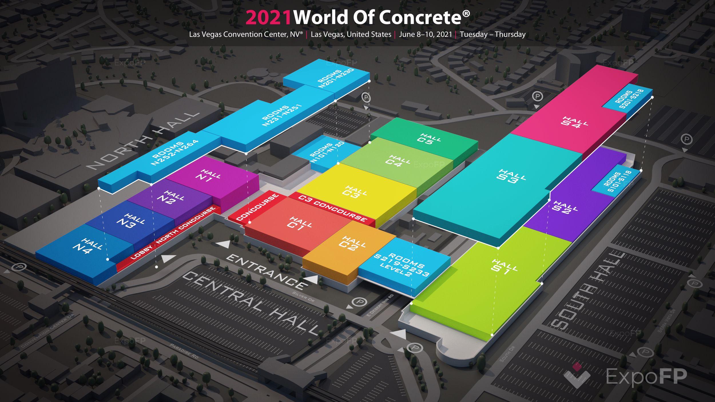 World of concrete 2021 las vegas | las vegas convention center floorplan | world of concrete 2021