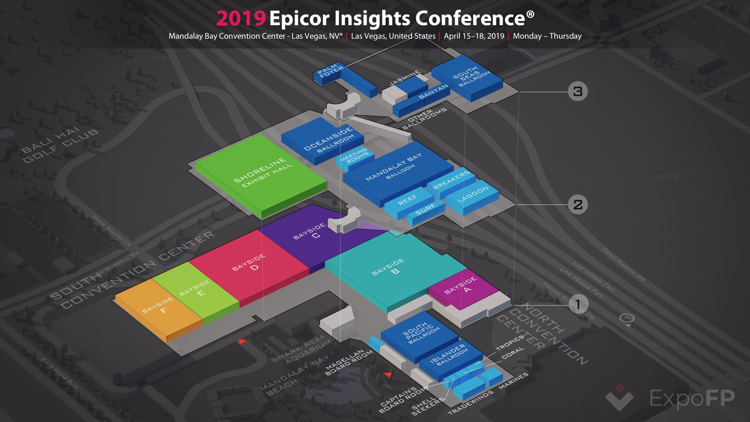 Las Vegas Convention Center Map, Epicor Insights Conference 2019 3d Floor Plan, Las Vegas Convention Center Map