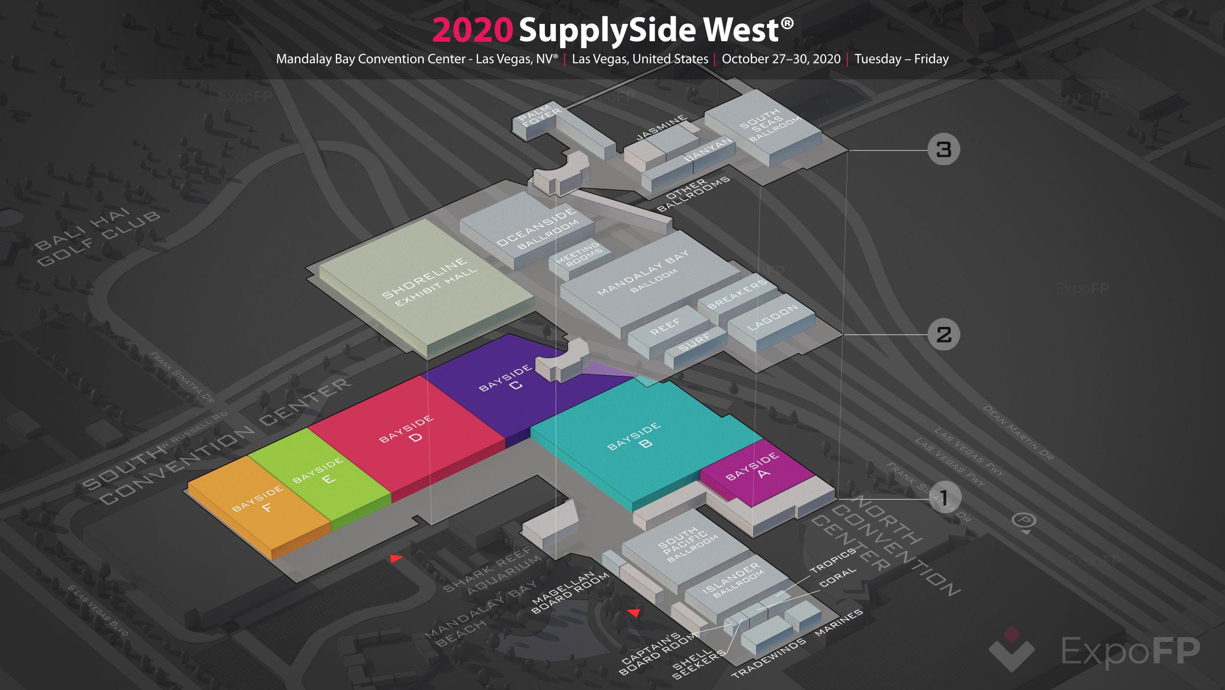 Supplyside west 2020 3d floor plan