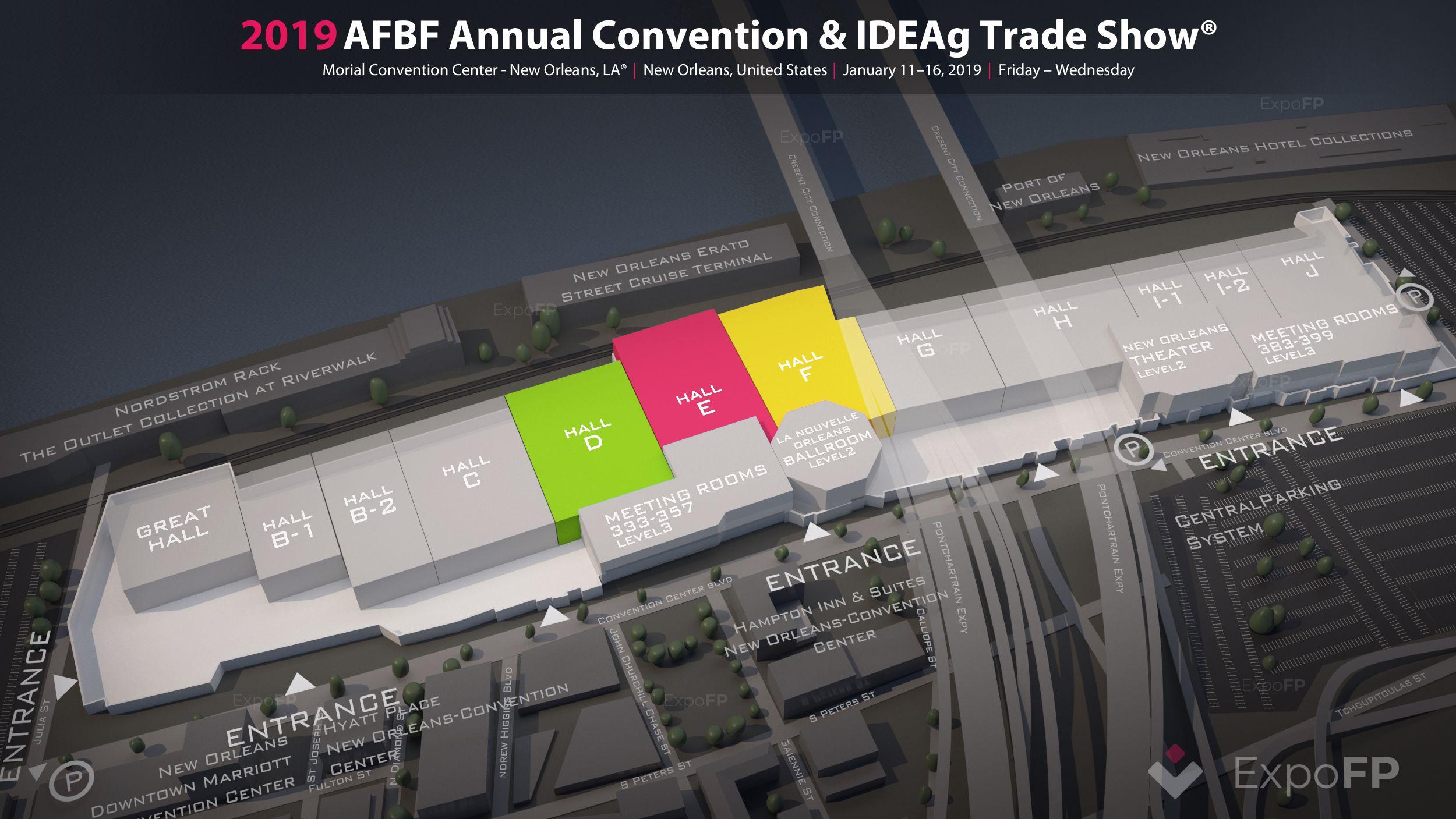 AFBF Annual Convention & IDEAg Trade Show 2019 in Morial