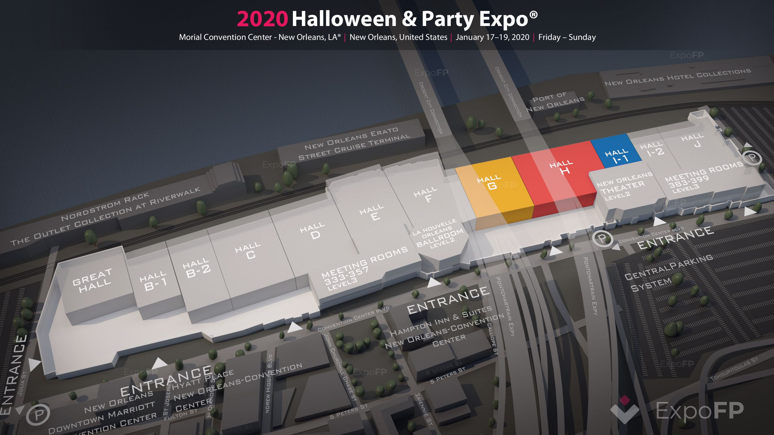 New Orleans Halloween Party Expo 2020 Information Halloween & Party Expo 2020 in Morial Convention Center   New
