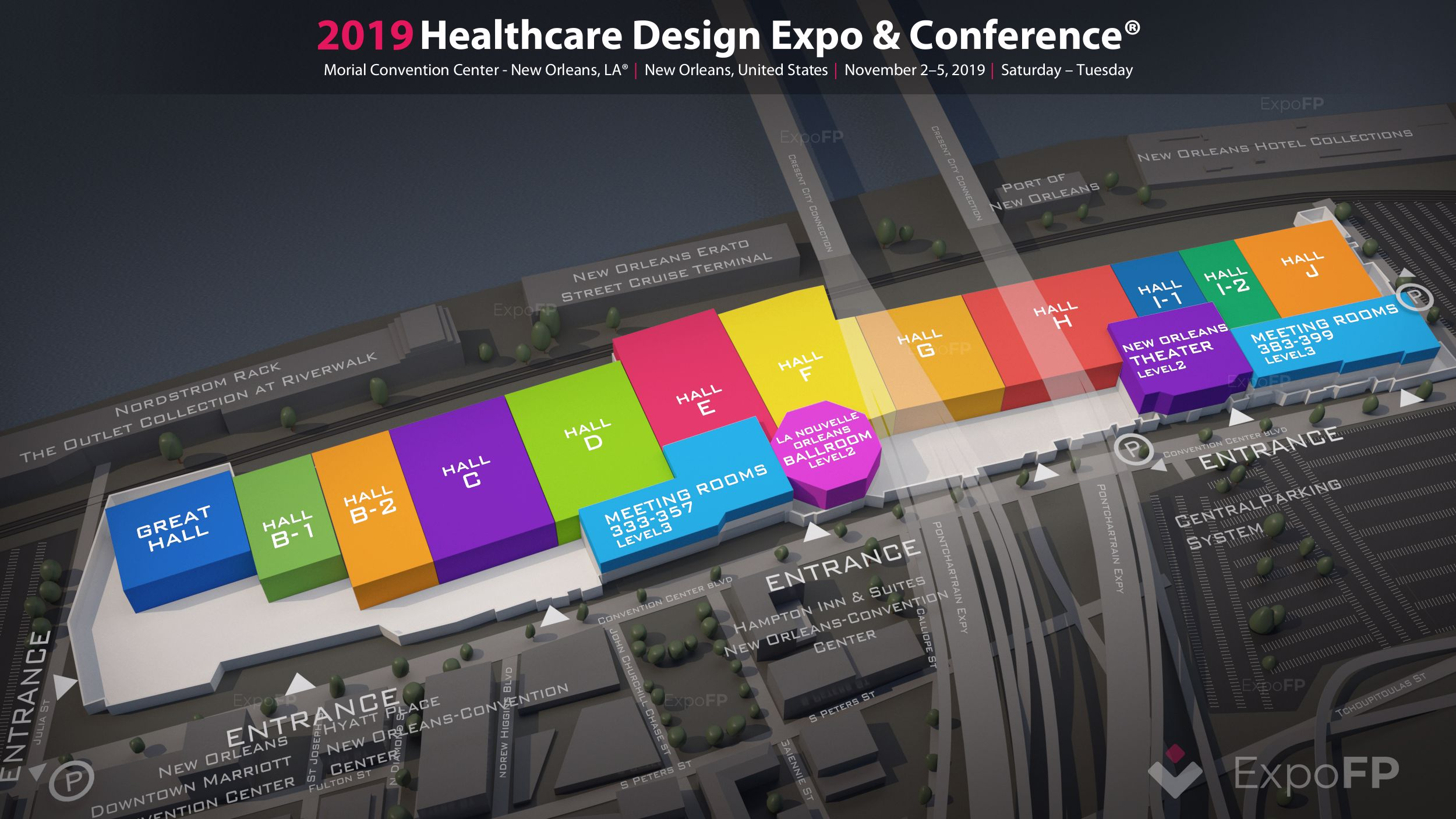 Healthcare Design Expo & Conference 2019 in Morial Convention Center