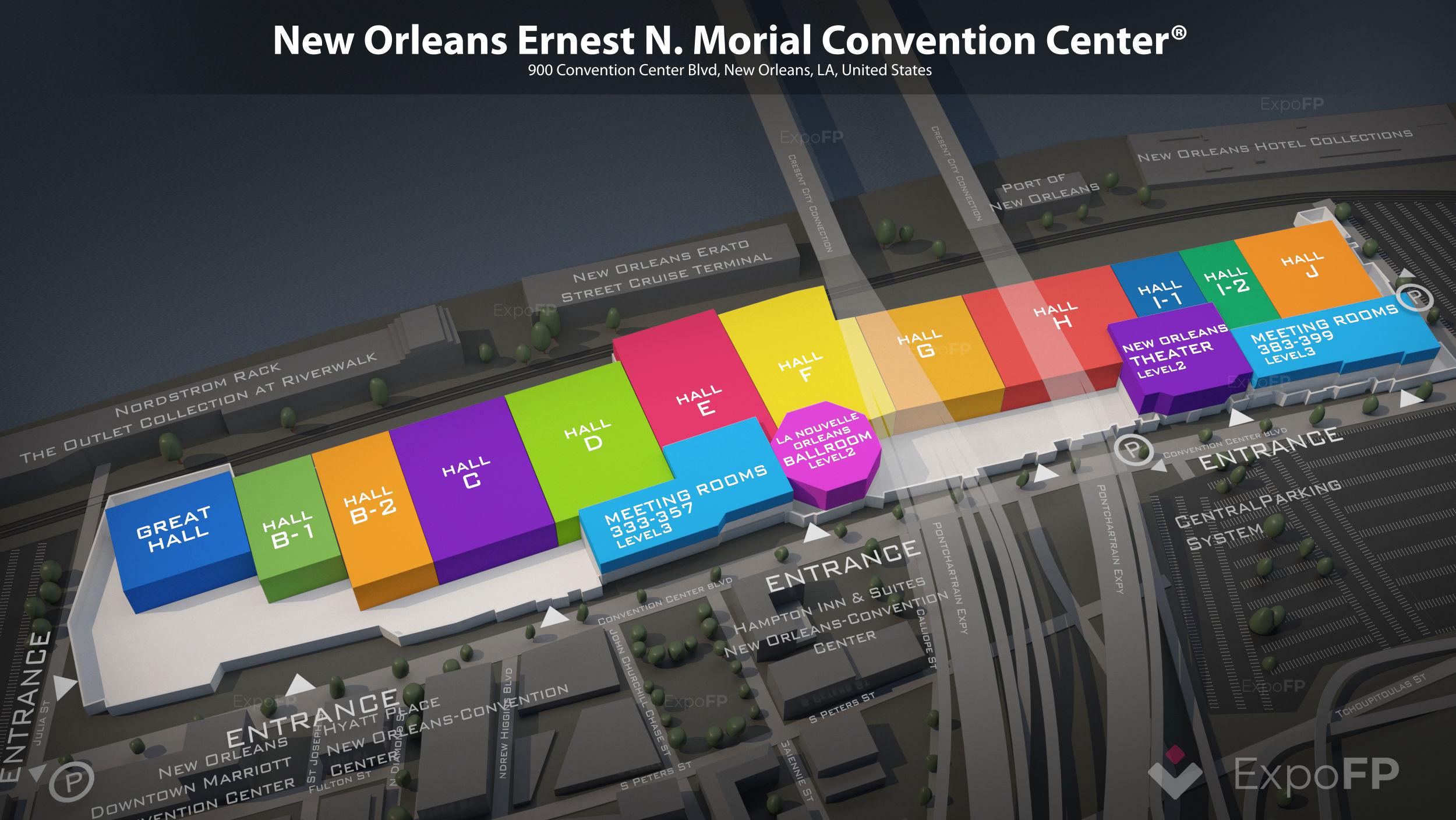 New Orleans Ernest N Morial Convention Center Floor Plan