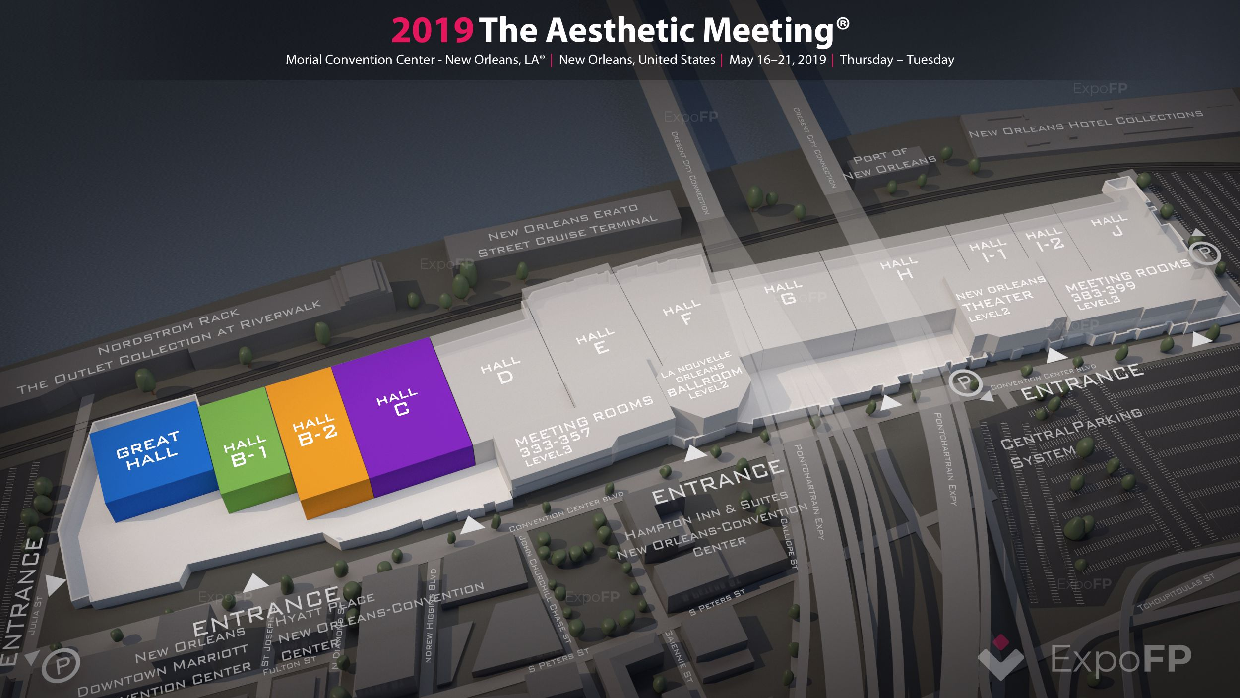 The Aesthetic Meeting 2019 in Morial Convention Center