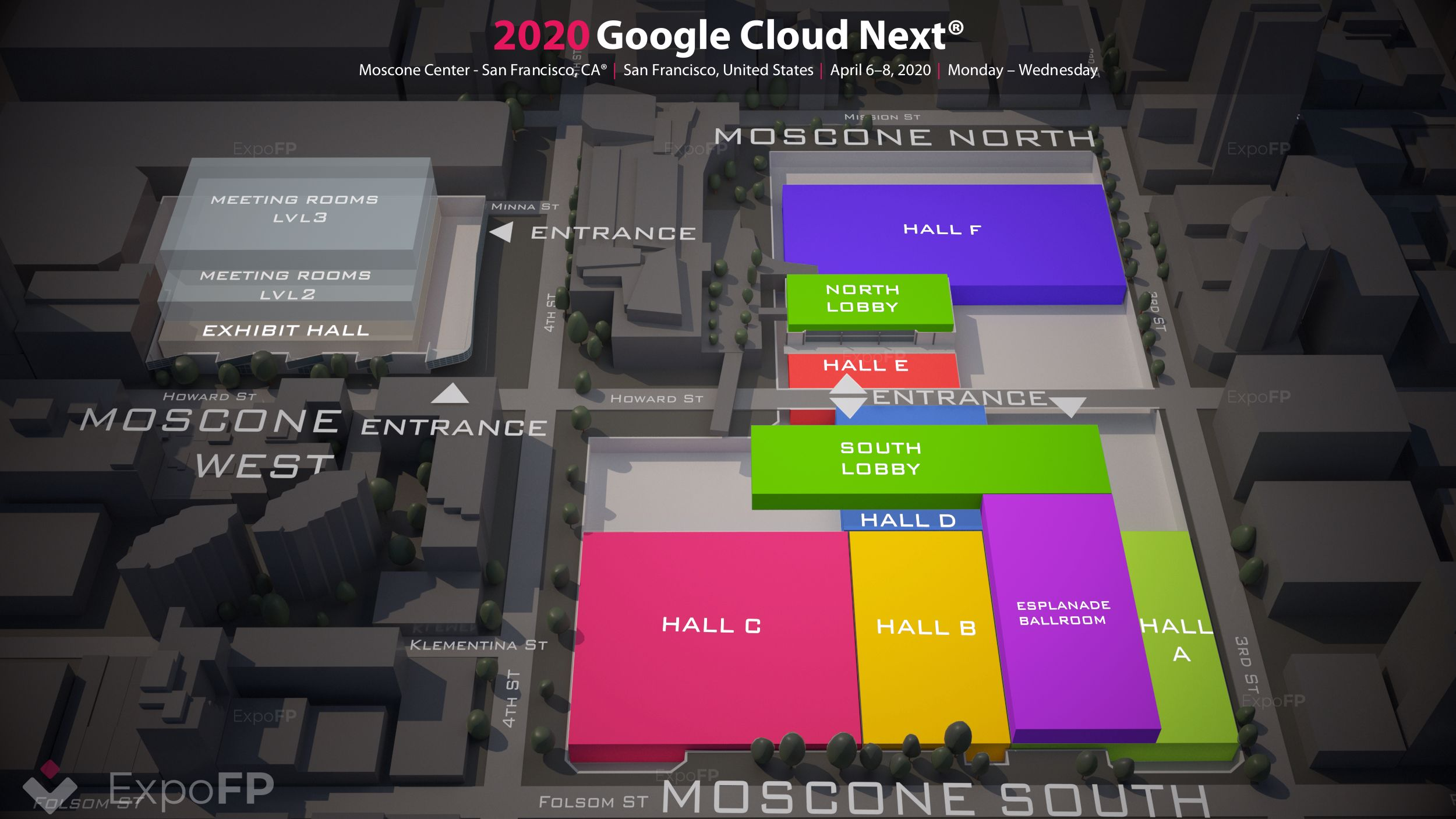 Google Cloud Next 2020 3D floor plan