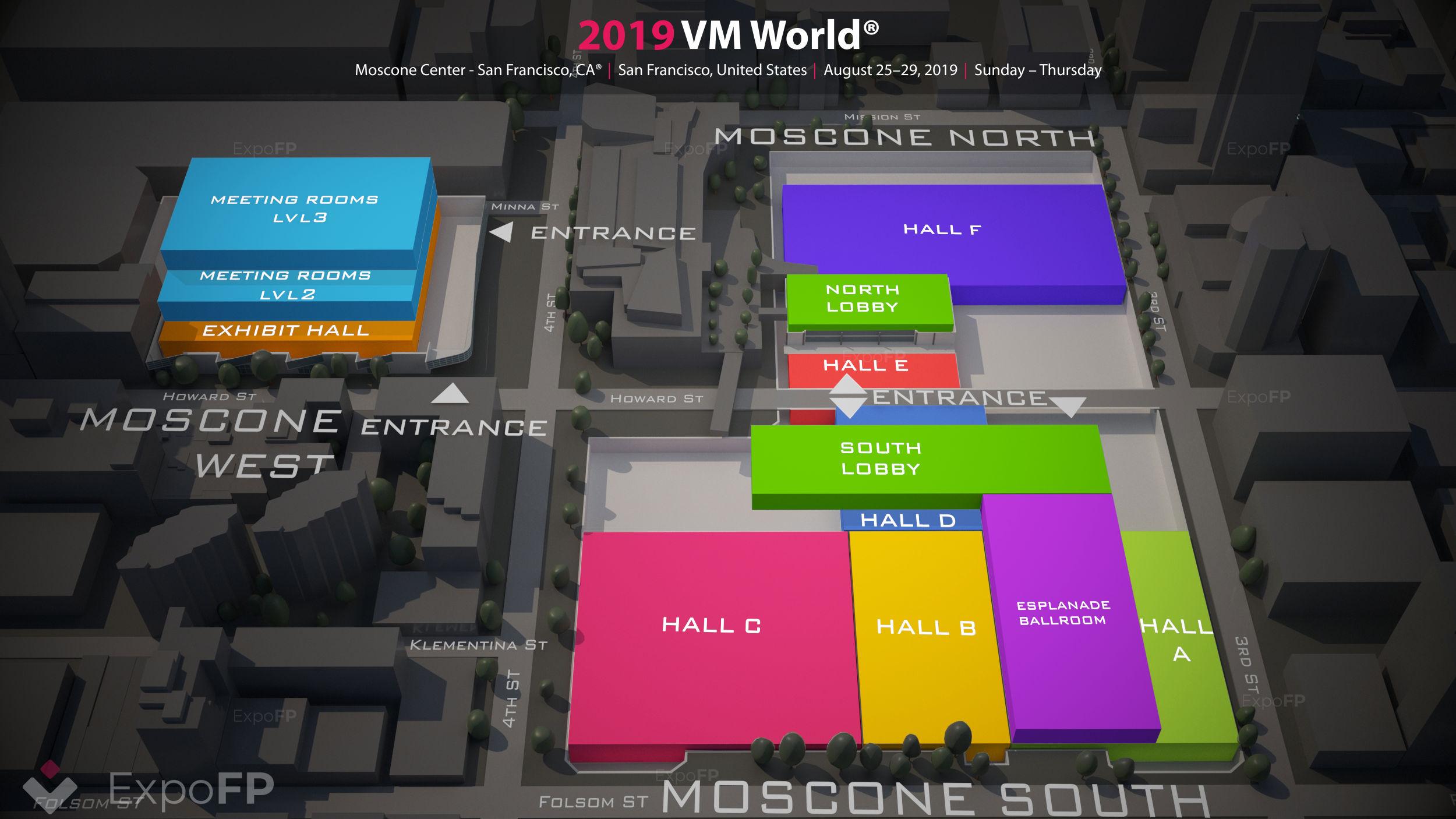 VM World 2019 3D floor plan