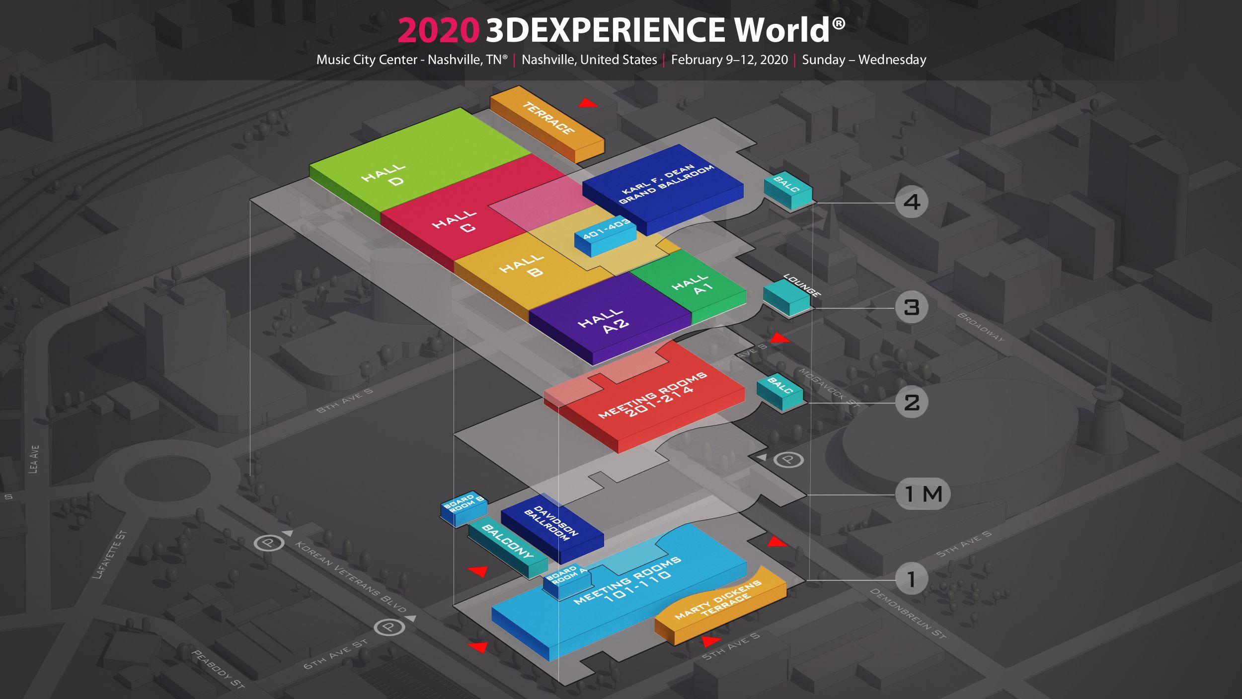 3DEXPERIENCE World 2020 3D floor plan