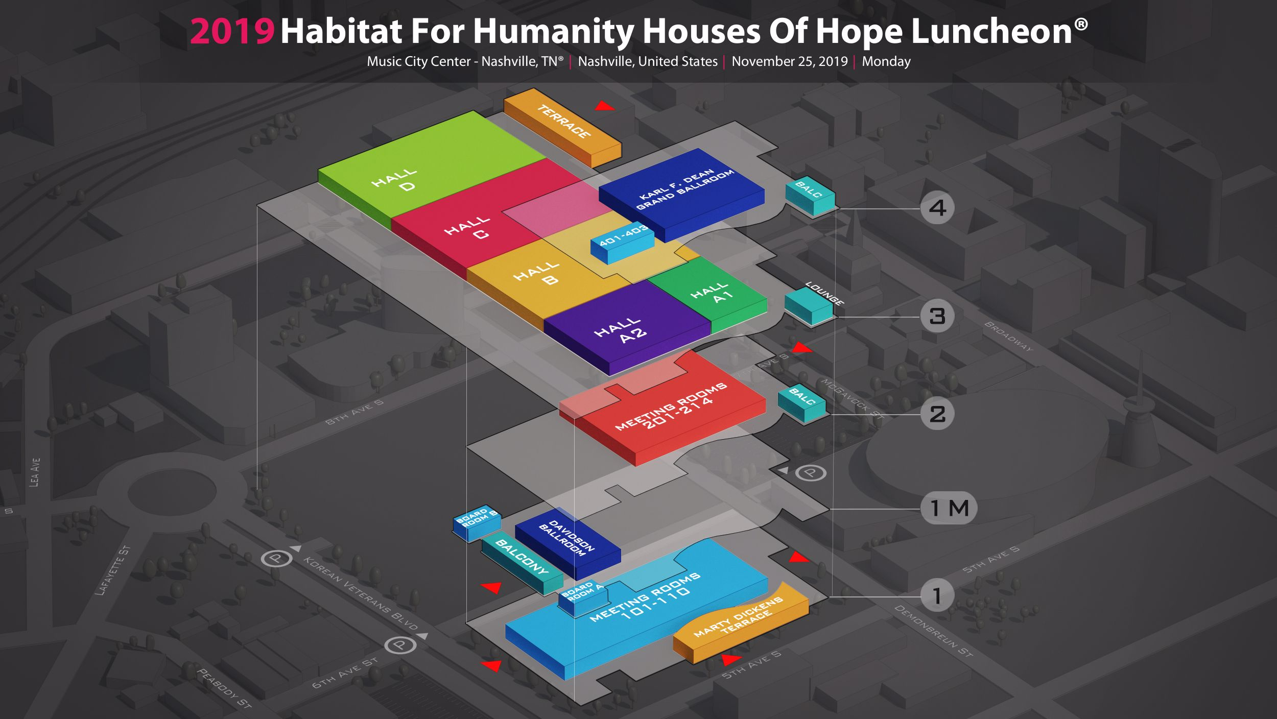 Habitat For Humanity Houses Of Hope Luncheon 2019 In Music City Center Nashville Tn
