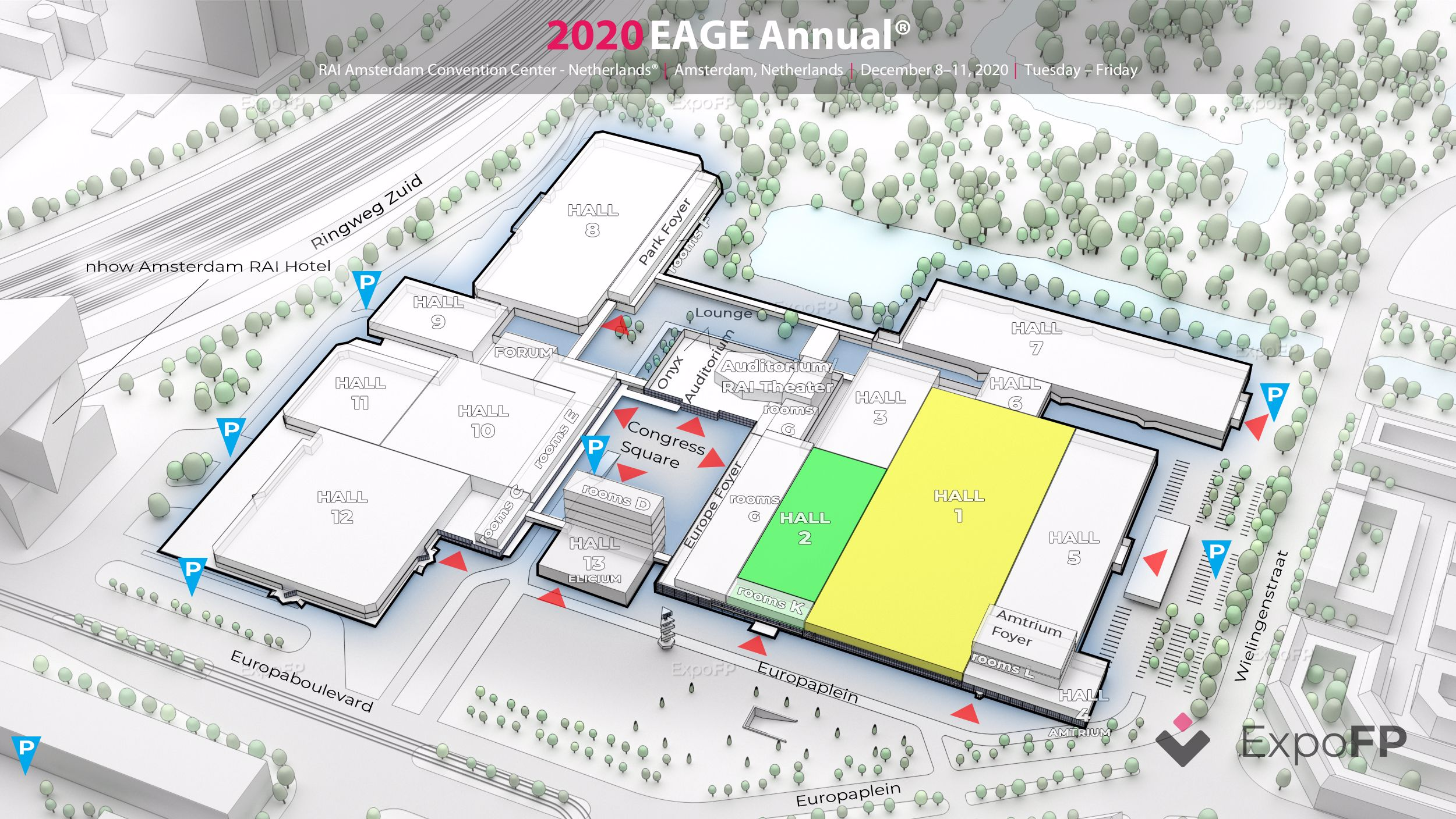 EAGE Annual 2020 3D floor plan