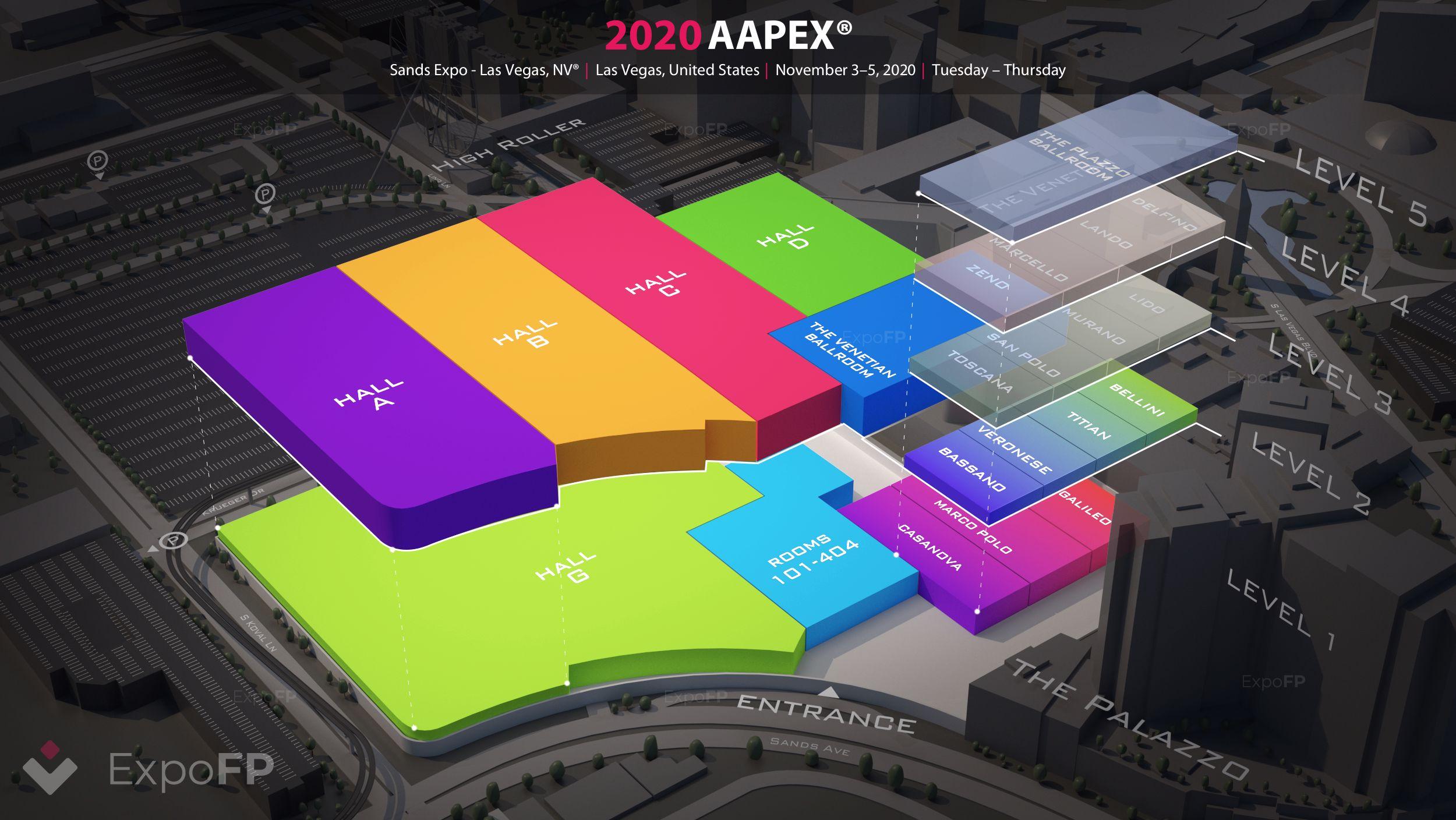 Aapex 2020 In Sands Expo Las Vegas Nv