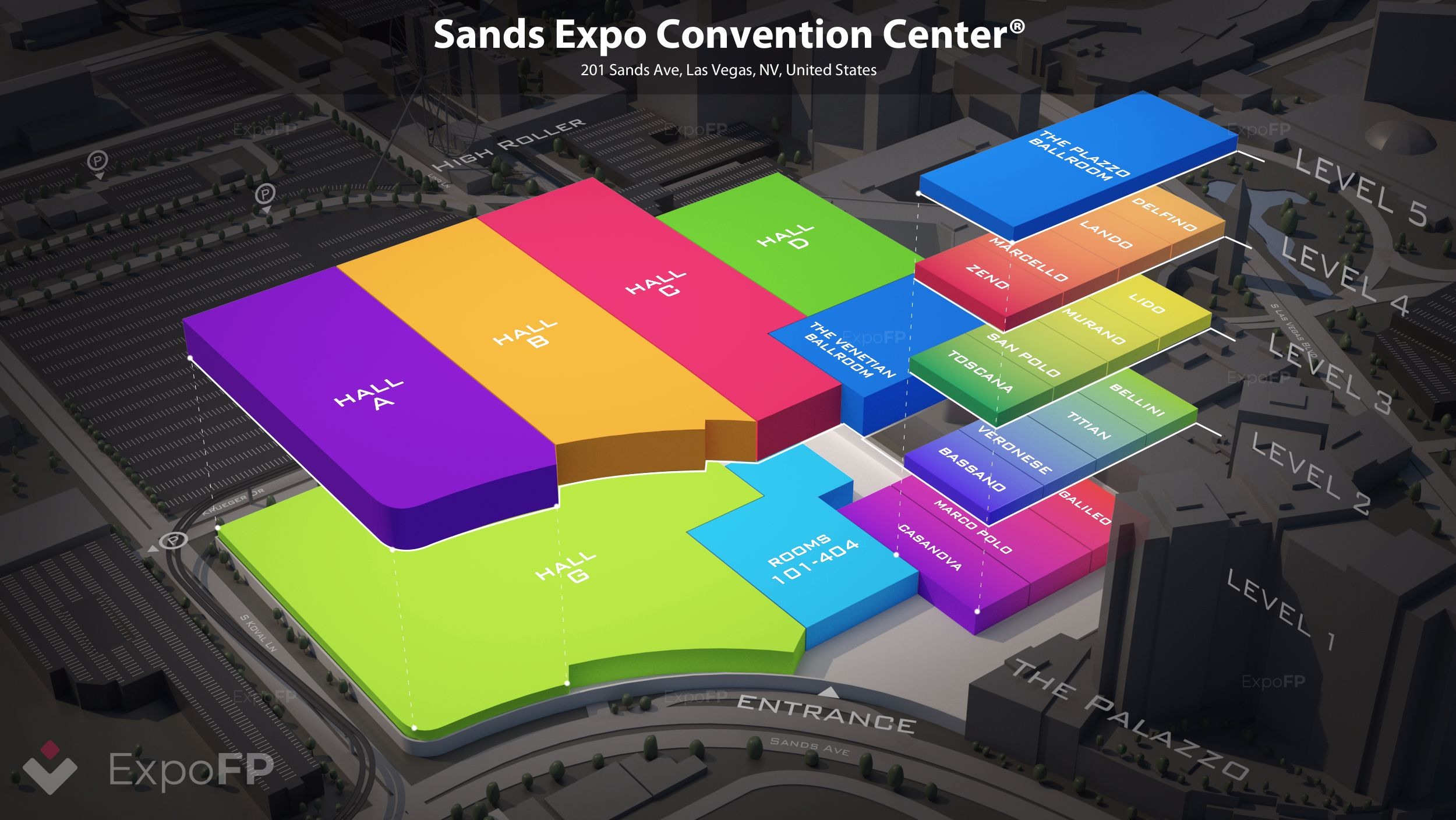 Sands Expo Convention Center Floor Plan