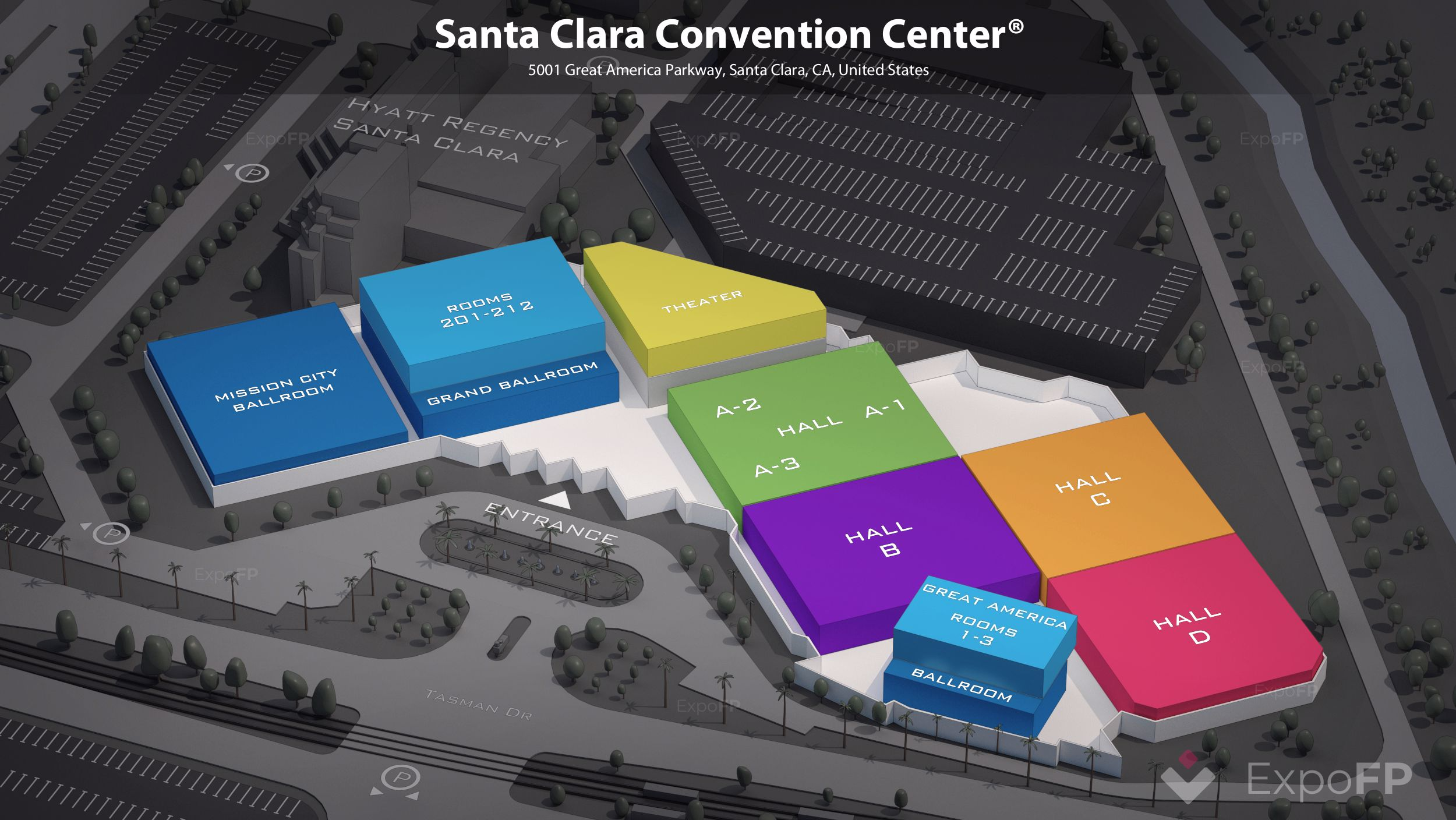 Santa Clara Convention Center 3D floor plan